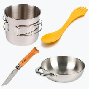 Кружка + миска + ложка + нож