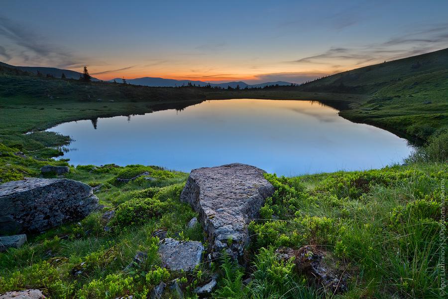 Поход в Карпаты. Озеро Апшинец